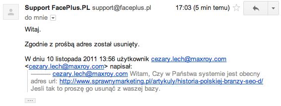 faceplus spam